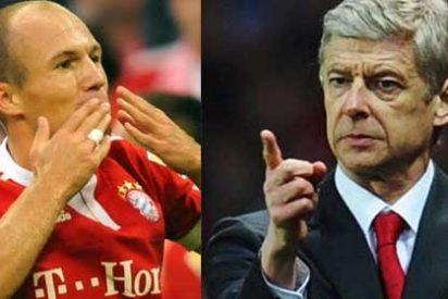 El rifirrafe entre Wenger y Robben