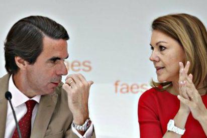 Una llamada de María Dolores Cospedal que indignó al 'engreido' Aznar fue detonante de la disputa