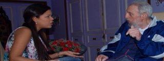 Reaparece Fidel Castro hecho un espectro de cuidado junto a la hija de Hugo Chávez