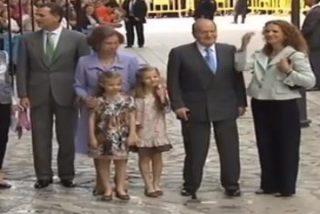Los palmesanos dan su respaldo a los Reyes, Príncipes y la infanta Elena en la Catedral