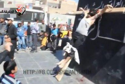 Dos cristianos sirios, crucificado por no renegar de su fe