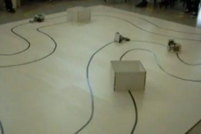 La UPM celebra la final del concurso de robots construídos por estudiantes