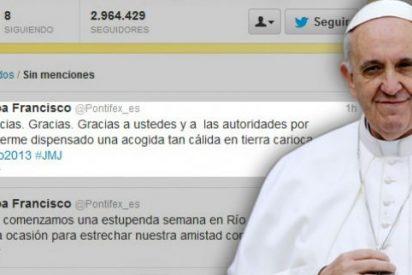 El papa supera los trece millones de seguidores en Twitter