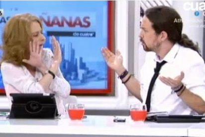 """Bronca en el ala izquierda de Cuatro entre A. Gutiérrez y Pablo Iglesias: """"No me toques"""""""