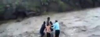 El escalofriante vídeo de cómo se ahoga toda una familia en un río