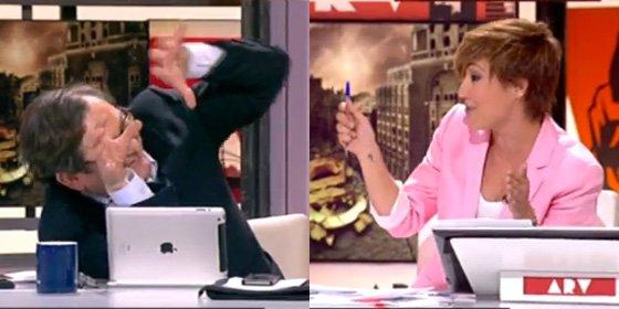 "Así aplaca Cristina Pardo al rebelde Marhuenda: ""Paco, que te tiro el boli"""