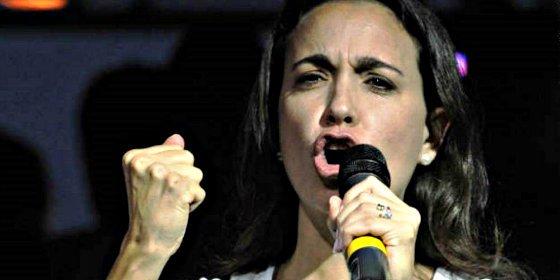 """Corina Machado: """"Con esta farsa de diálogo en Venezuela no engañan a nadie"""""""