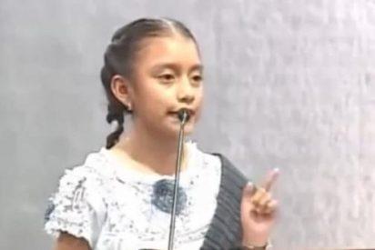 El emotivo discurso de una niña indígena sobre los valores que merece ser oído