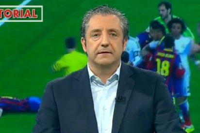 """Pedrerol pide a Del Bosque que se moje: """"El pisotón de Busquets hay que denunciarlo"""""""