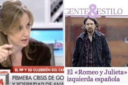 """La novia de Pablo Iglesias echa pestes de ABC por sacarla en la prensa rosa """"sin consultar a nadie"""""""