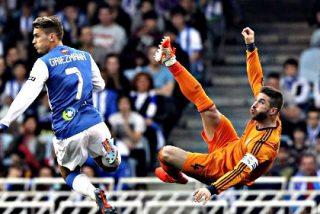 El Real Madrid pasa por la piedra (0-4) a la Real Sociedad en Anoeta y sigue enganchado a la Liga