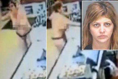 La loca que destrozó el McDonald's tetas en ristre estaba encabronada porque le negaron sexo oral