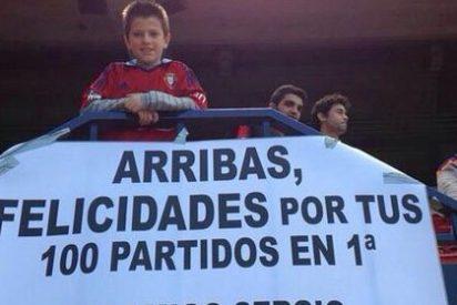 Sergio, hincha de Osasuna de 12 años, supera un cáncer con el apoyo de Arribas
