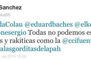 """Una miembro de la plataforma de Ada Colau llama """"raquítica"""" a Cifuentes en Twitter"""