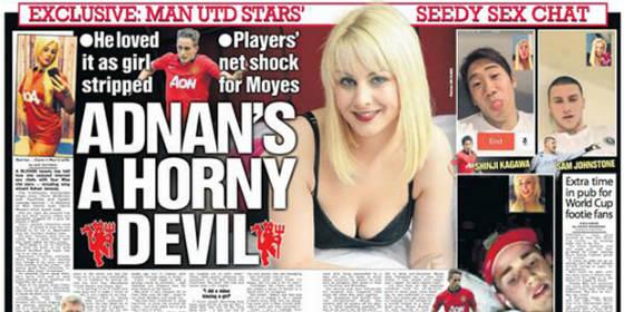 Escándalo en Inglaterra de varios jugadores del United por conversaciones de cybersexo