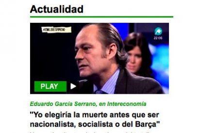Vertele se columpia con una frase de García Serrano de... 2012
