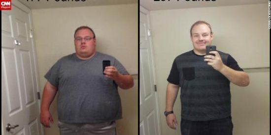 Adelgaza 90 kilos en 9 meses 'empujado' por el recuerdo de su querido padre fallecido