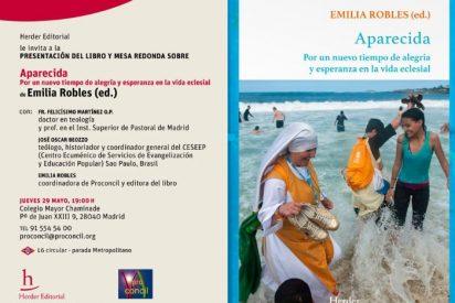 """Presentación en Madrid de """"Aparecida"""" (Herder), de Emilia Robles"""