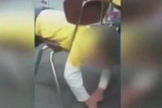 [Vídeo] La profesora se burla del niño autista a quien le estallan los vasos sanguíneos de los ojos