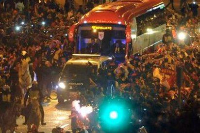 Apedrean el autobús del Sevilla