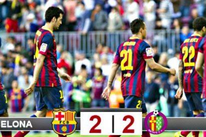 El modesto Getafe empata con el millonario Barça y lo echa de la carrera por la Liga