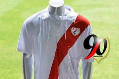 Así es la nueva camiseta del Rayo por su 90 aniversario