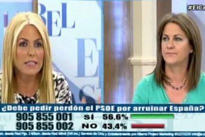 Montse Suárez y María Antonia Trujillo tiran del 'y tú más' para reprocharse los casos machistas de PP y PSOE