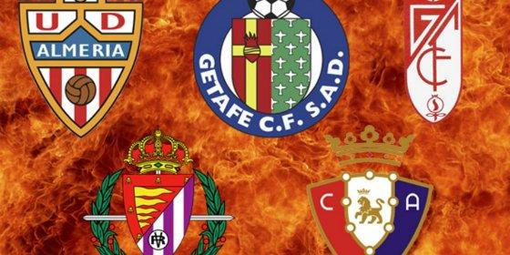 Cinco equipos buscan salvarse del infierno