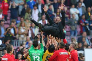 El Atlético de Madrid domina al Barça y se proclama en el Camp Nou campeón de la Liga española