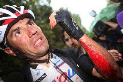 Giro de Italia: Caída y abandono de Purito
