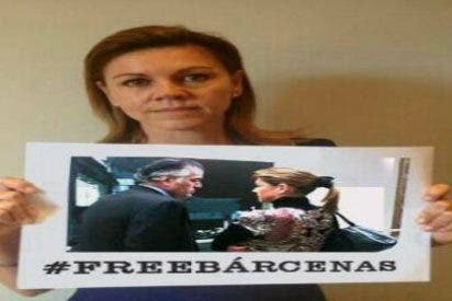 Secuestran las intenciones de Cospedal: le arrebatan su '#BringBackOurGirls' y se lo canjean por #FreeBarcenas