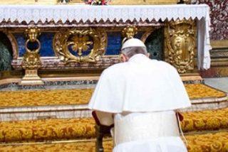 Francisco acude de nuevo a Santa María la Mayor para agradecer el éxito del viaje a Tierra Santa
