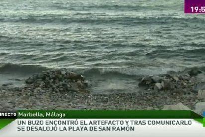 Desalojan una playa de Marbella por una bomba de hace 70 años