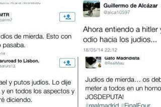 La comunidad judía en España denuncia a 5 tuiteros y pide investigar a 17.000 por mensajes antisemitas