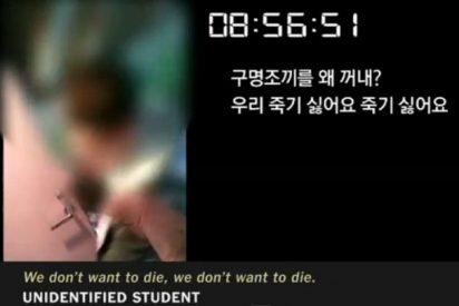 """El vídeo del estudiante que se ahogó con sus amigos en el Sewol: """"Esto parece ser el fin"""""""