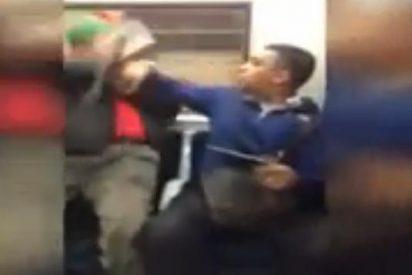 [Vídeo] Un anciano 'pegón' se pone chulo en el metro y un pasajero le da una paliza de aúpa