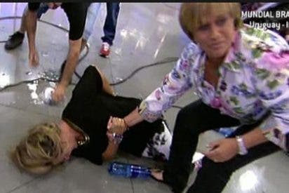 La espeluznante caída de Lydia Lozano en directo que pone los pelos de punta