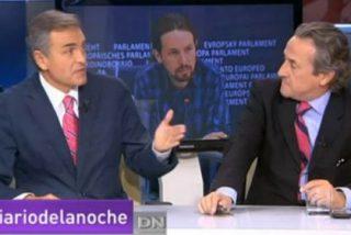 """Carmelo Encinas a Hermann Tertsch en un tenso debate sobre Podemos: """"¿Voy a poder replicar a esa severa estupidez?"""""""
