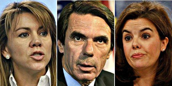 El expresidente Aznar, FAES, La Moncloa y el 'fuego amigo' en la batalla entre Soraya y Cospedal