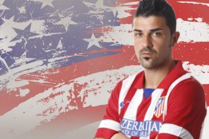 Villa se despide del Atlético por Twitter