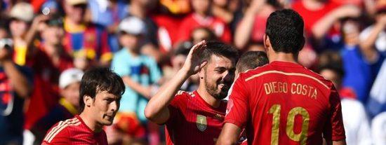 Selección Española: Dos goles de Villa a El Salvador y todos rumbo al Mundial de Brasil