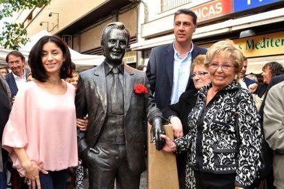 Manolo Escobar ya tiene su reluciente y merecida estatua en Badalona