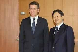 El príncipe Naruhito manifiesta a Feijoo su interés por volver a Galicia