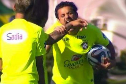 Fred muerde a Marcelo en el entrenamiento