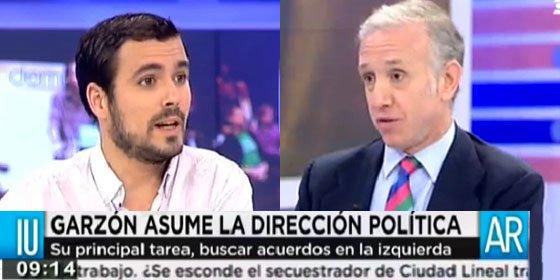 "Inda calla a Garzón (IU) por negar los elogios de Pablo Iglesias a ETA : ""¡Pero si están hasta en un vídeo que publicó Periodista Digital!"""