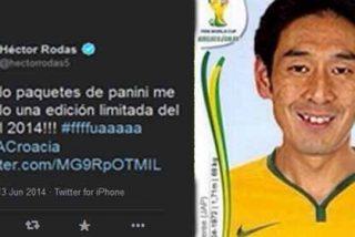 Uno de los futbolistas de LAOTRALIGA bromea tras el arbitraje del Brasil-Croacia