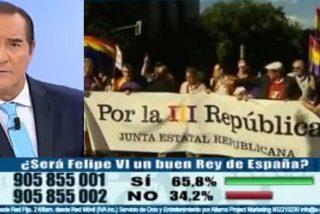 Jiménez eche pestes contra Somoano por abrir el telediario con siete minutos de marchas republicanas