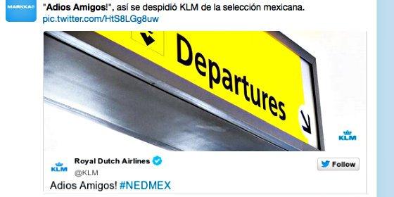 La aerolínea holandesa KLM indigna a los mexicanos con este tuit