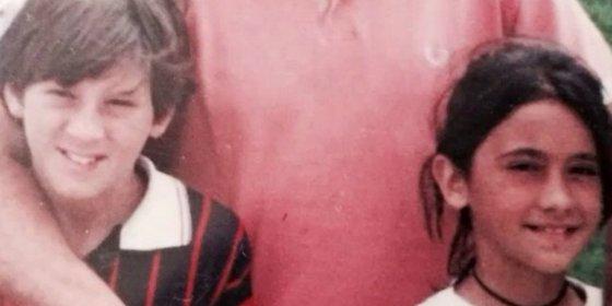 A Messi ya se le caía la baba con Antonella cuando eran niños