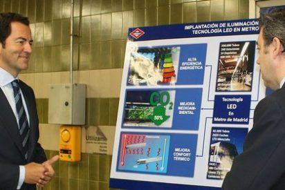 Metro instalará iluminación LED en 60 estaciones y 480 coches, lo que permitirá un  ahorro energético del 62%